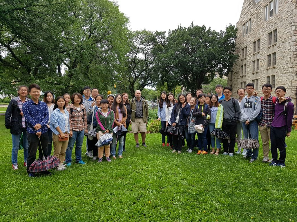 St Andrews garden site Aug 8 2016 w Chinese agriculture students