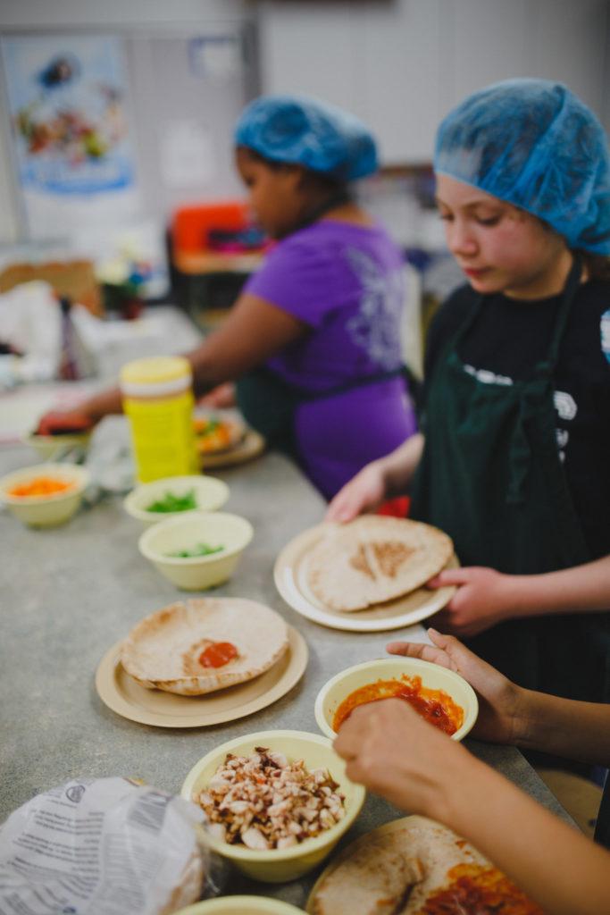 kids kitchen cutting vegs