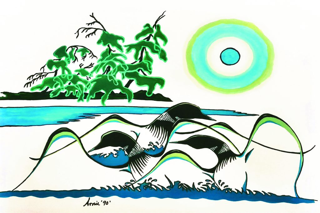 Arnold Isbister - Dancing Loons