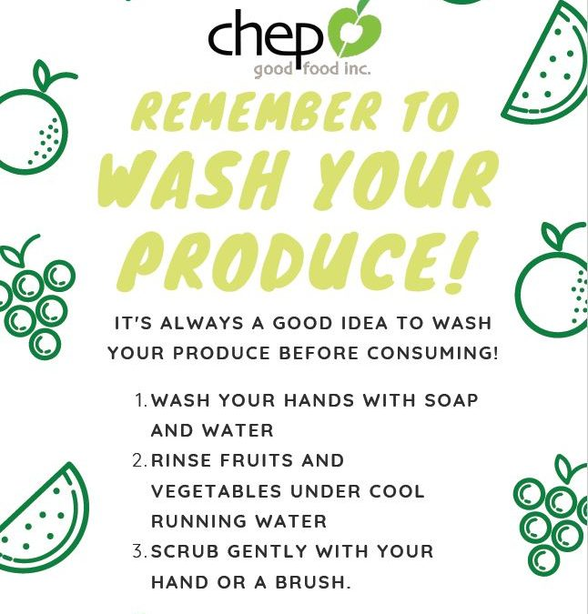 Remember to wash your produce!
